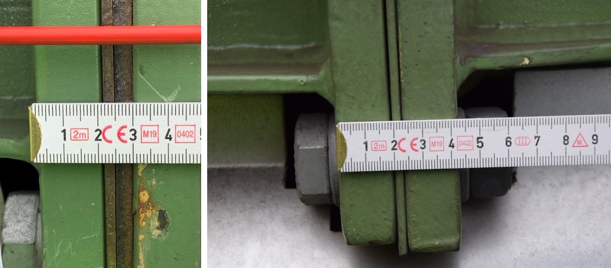 Zerstörte Fußpunktverankerung Stahlstütze